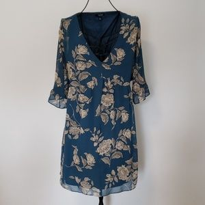 A.N.A Tan & Green Floral Tunic Large